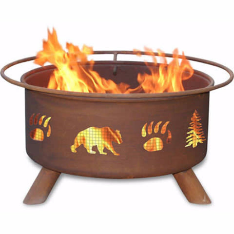 Bear & Trees Fire Pit - The Fire Pitz
