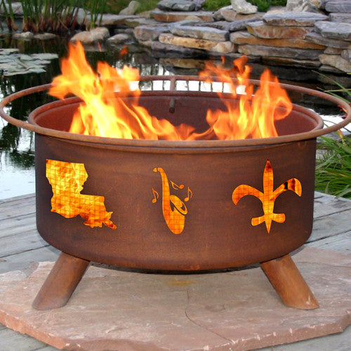 Mardi Gras Fire Pit - The Fire Pitz