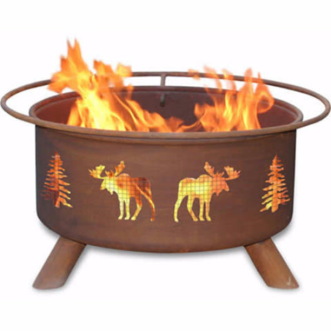 Moose & Trees Fire Pit - The Fire Pitz