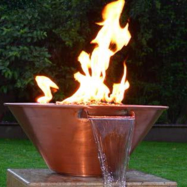 "24"" Copper Round Fire & Water Bowl - The Fire Pitz"