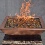 "24"" Copper Square Fire Pot - The Fire Pitz"