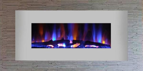 "Sideline Duo 36"" Stainless Wall Mounted Electric Fireplace"