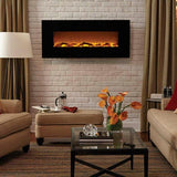 "Onyx - 50"" Wall Mounted Electric Fireplace - The Fire Pitz 