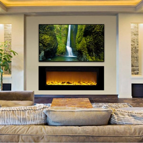 Sideline Recessed Electric Fireplace