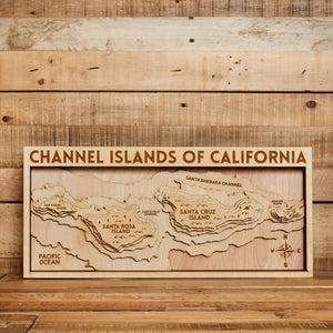 3D Map of Channel Islands
