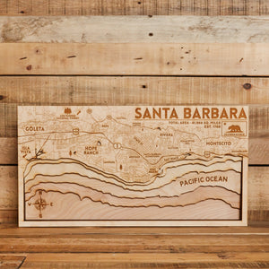 3D Map of Santa Barbara 10x20