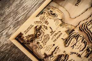 3D Game of Thrones Map 10x14