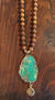 Sandalwood and Turquoise Necklace