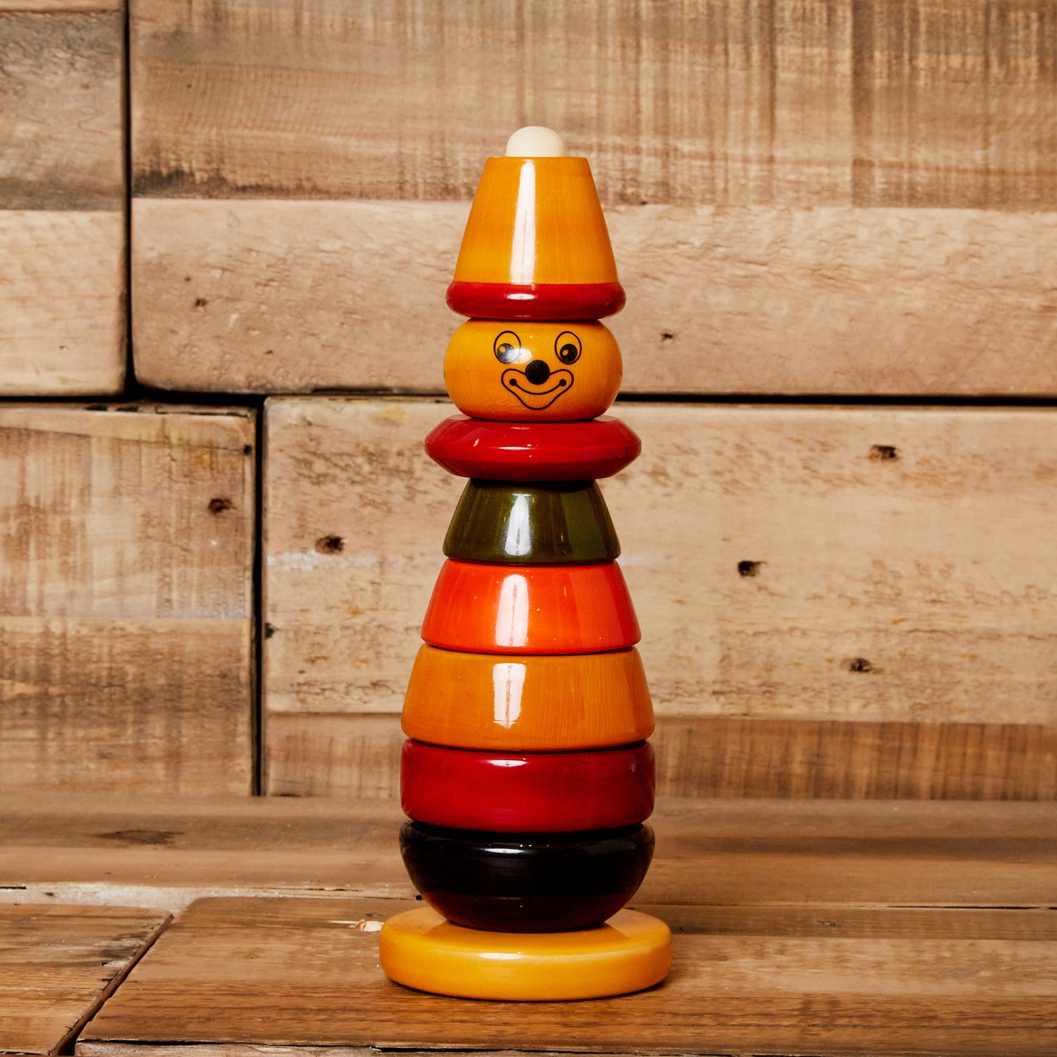 Stacking Wood Clown