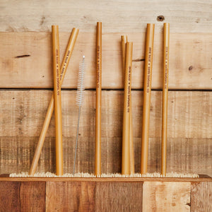 Drink Local Bamboo Straw Set/7