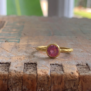 Rose Pink Sapphire Ring