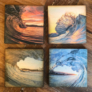 John Baran Wood Coaster/ Set of 4