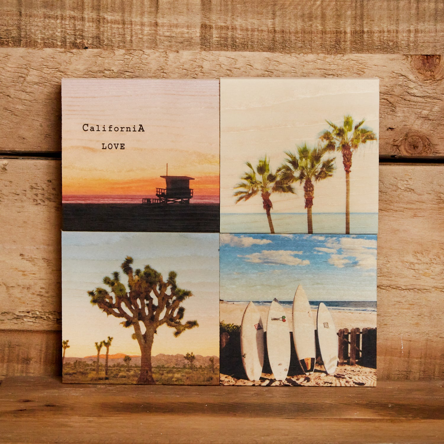 Magnent/Wall Art Gift Set/4 - California