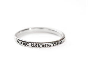 Sterling Silver Quote Rings