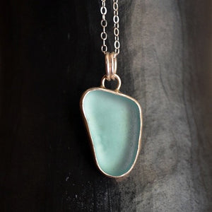 Sterling Sea Glass Necklace