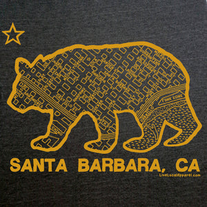 Santa Barbara Bear Map Tee, Women's