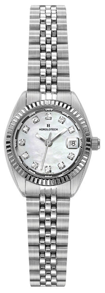 Lady's Horolotech Diamond Dial Watch - HA4700WLIT