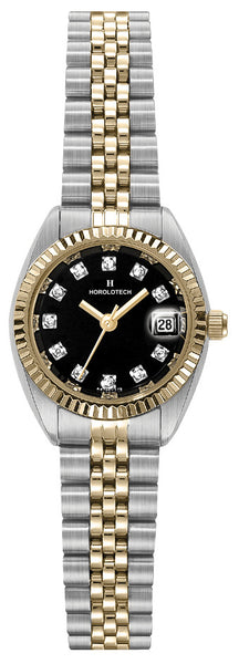 Lady's Horolotech Diamond Dial Watch - HA4702BLK