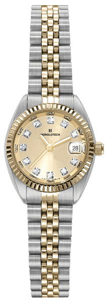 Lady's Horolotech Diamond Dial Watch - HA4702CHA