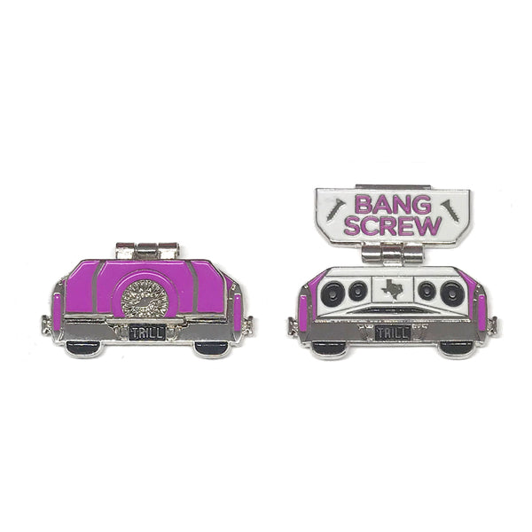 "Candy Coated Slab Pin - ""Bang Screw"" Purple"