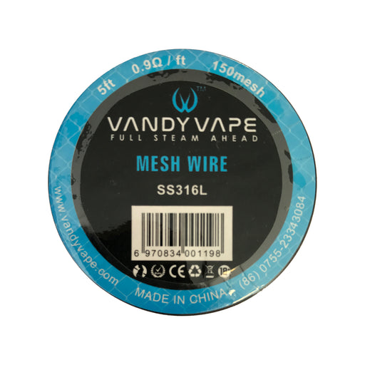 Vandy Vape 150 Mesh Wire Stainless Steel SS316L 0.9 Ohm 5ft