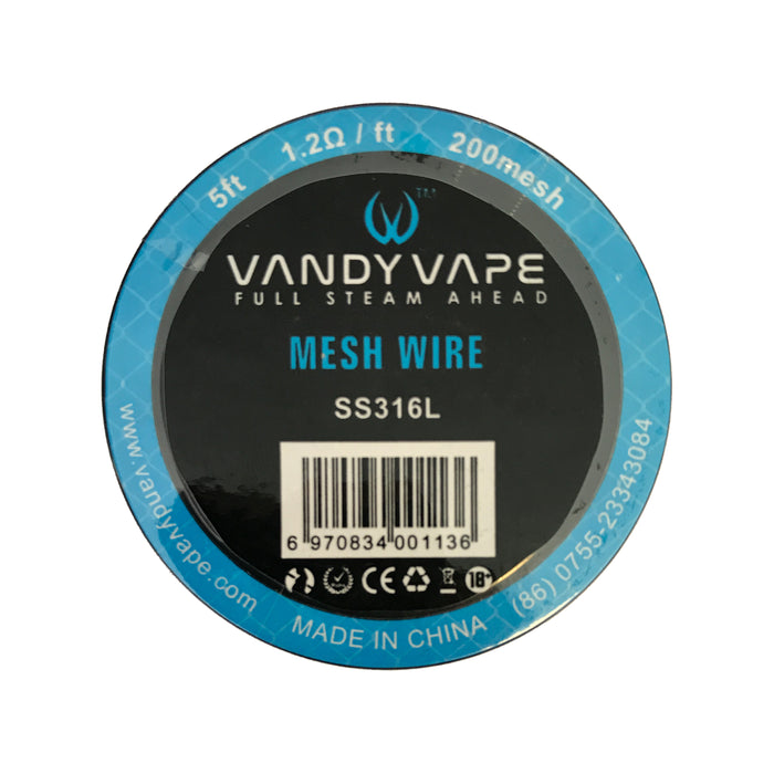 Vandy Vape 200 Mesh Wire Stainless Steel SS316L 1.2 Ohm 5ft