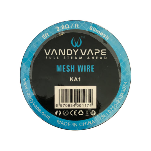 Vandy Vape 80 Mesh Wire Kanthal KA1 2.8 Ohm 5ft