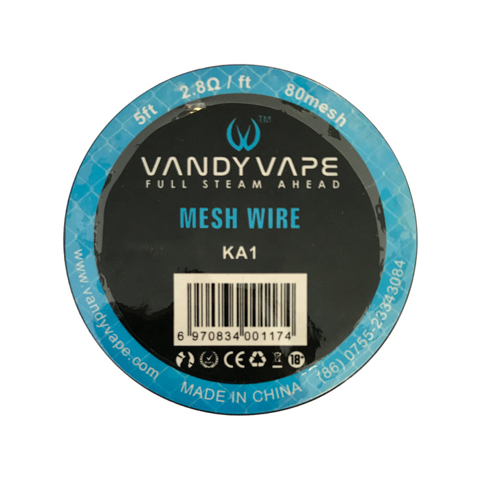 Vandy Vape 80 Mesh Wire Kanthal KA1 2.8 Ohm 5ft — Velvet Vapes