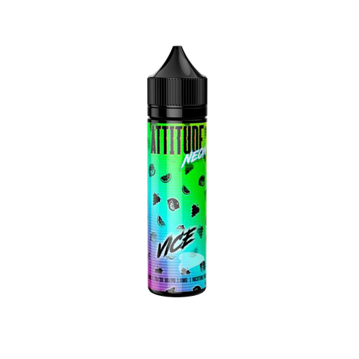 50ml Zero Nicotine Bottle of Neon Vice E-liquid by Attitude Vape