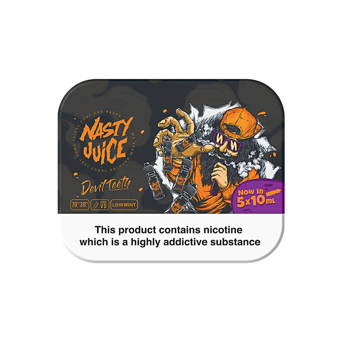 5 x 10ml Tin Pack of Devil Teeth by Nasty Juice