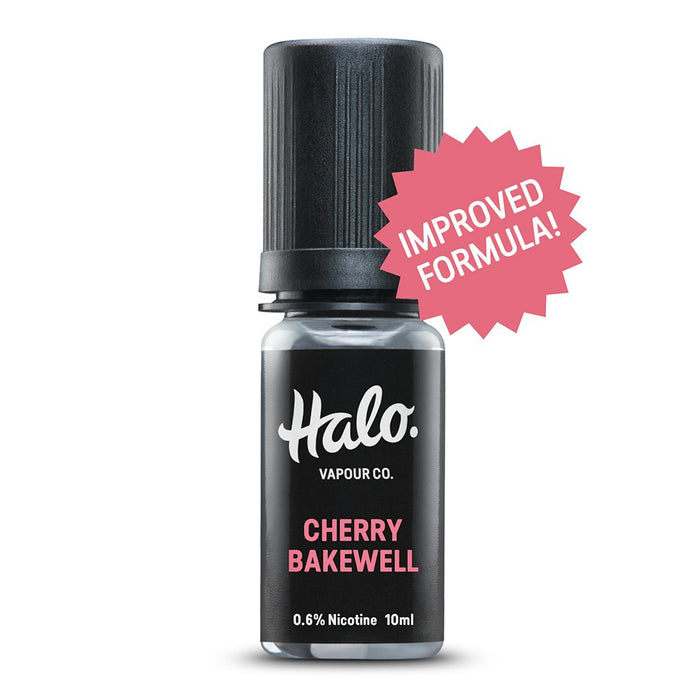10ml E-liquid Bottle of Cherry Bakewell by Halo