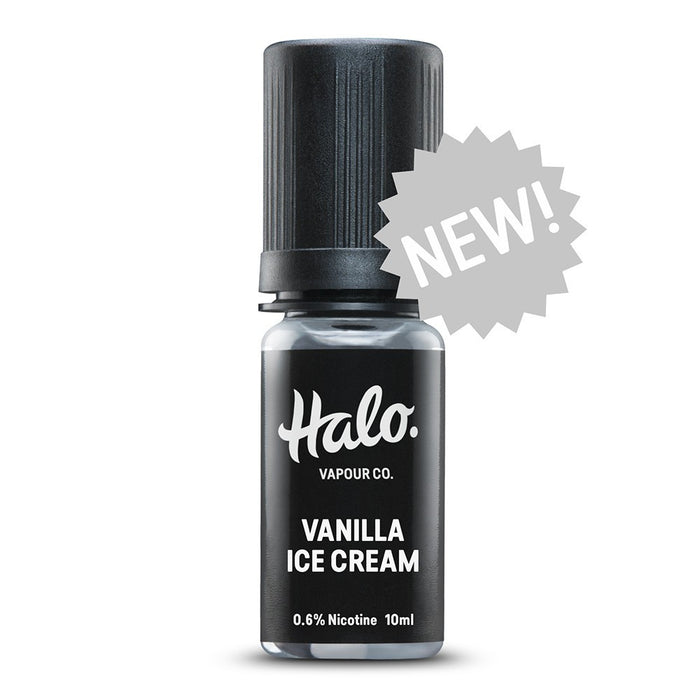 10ml E-liquid Bottle of Vanilla Ice Cream by Halo