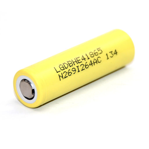 LG HE4 18650 2500mAh 35amp Battery - Flat Top