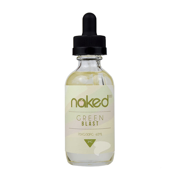 Bottle of Green Blast 50ml 0mg Nicotine by Naked 100