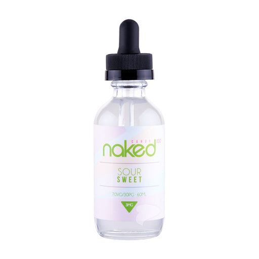 Bottle of Sour Sweet 50ml 0mg Nicotine by Naked 100