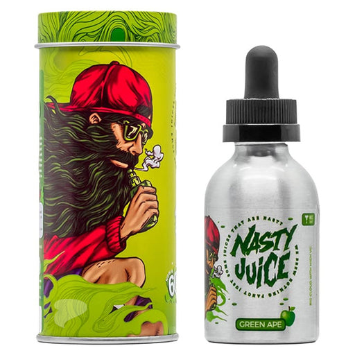 A 50ml Shortfill Bottle of Green Ape by Nasty Juice