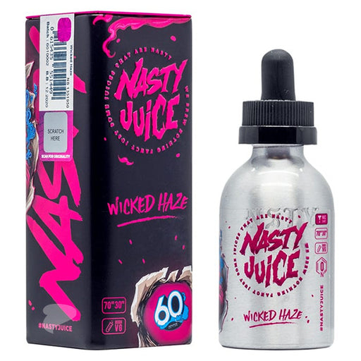 A 50ml Shortfill Bottle of Wicked Haze by Nasty Juice