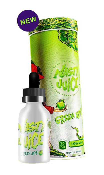 30ml Bottle & Tin of Green Ape by Nasty Juice