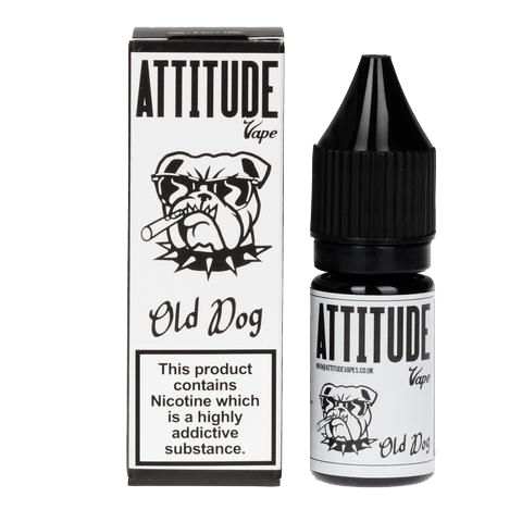 10ml Bottle of Old Dog E-liquid by Attitude Vape