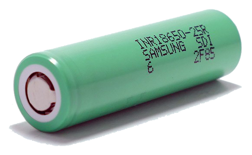 Samsung 25R 18650 2500mAh 25amp Battery - Flat Top