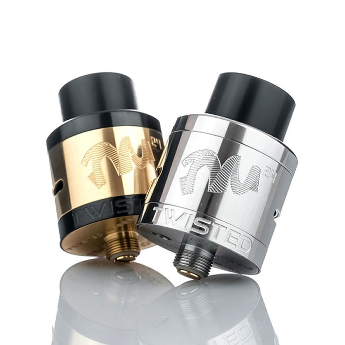 Gold & Black and Stainless TM24 RDA's by Twisted Messes