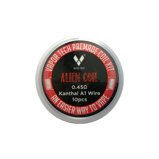 Vapor Tech Alien Pre-Made Coils (10 Pack + Cotton)