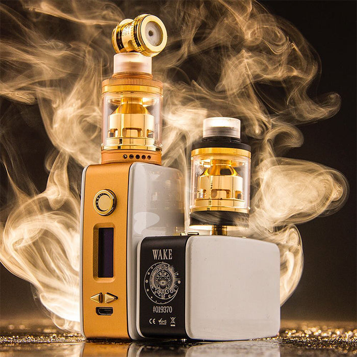 Gold Littlefoot Box Mod by Wake Mod Co.