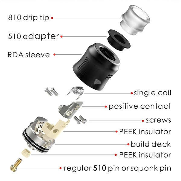 Wotofo Recurve RDA Exploded View