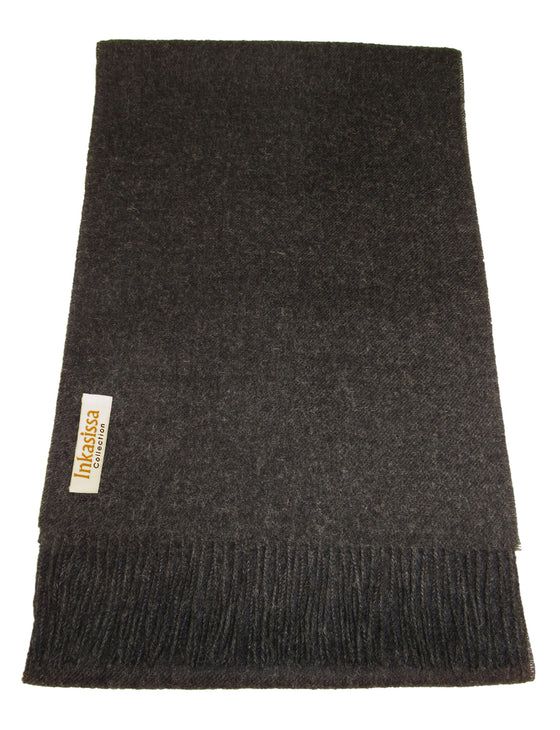 100% Baby Alpaca Classic Scarf - Charcoal