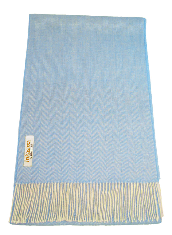 100% Baby Alpaca Classic Scarf - Blue Turquoise