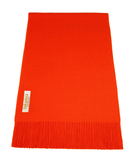 100% Baby Alpaca Classic Scarf - Orange