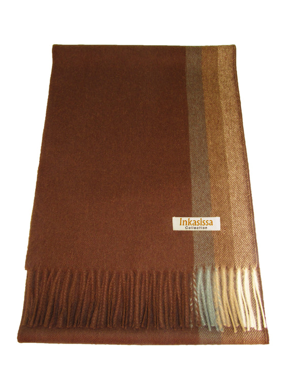 100% Baby Alpaca Brushed Scarf - Chocolate