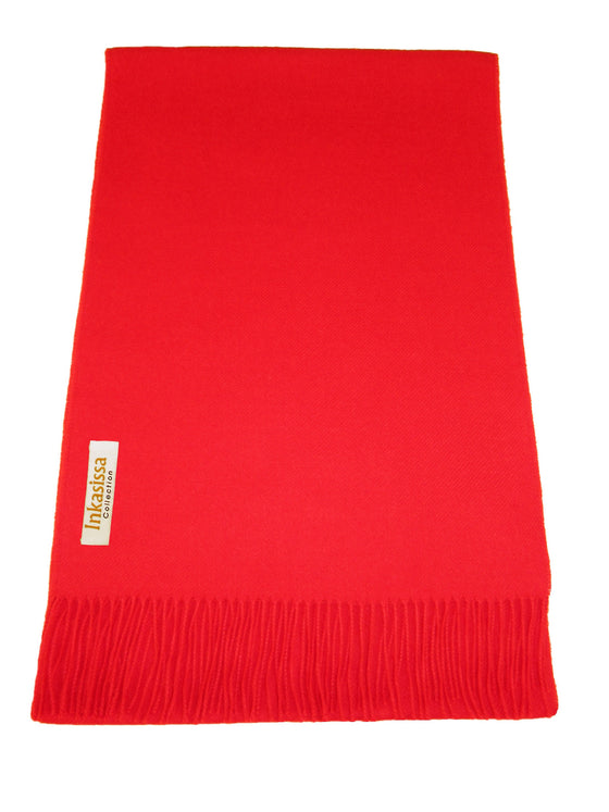 100% Baby Alpaca Classic Scarf - Bright Red