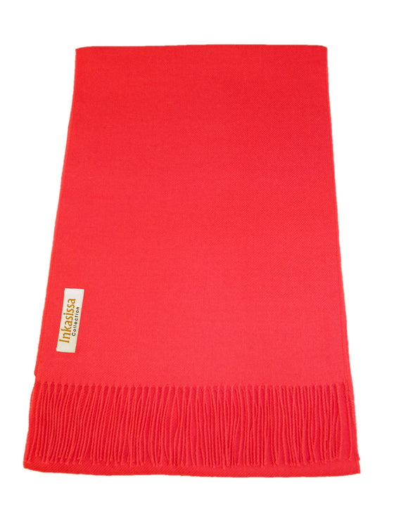 100% Baby Alpaca Classic Scarf - Coral